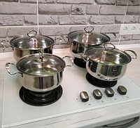 Набір кухонних каструль Royal Queen RY2061 з нержавіючої сталі, фото 1