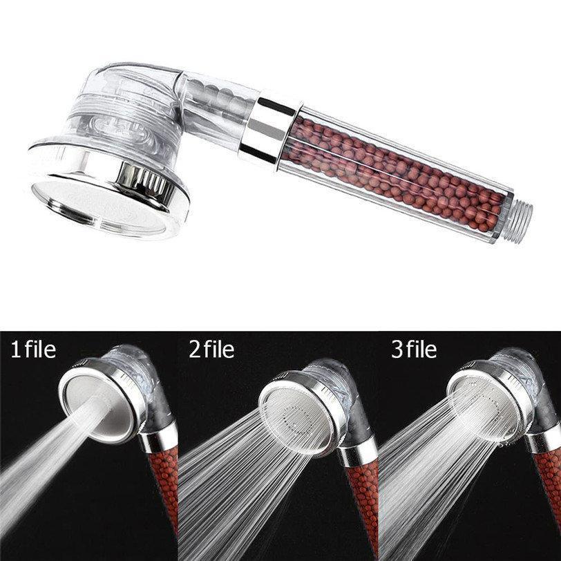 Насадка- Лейка для душа 3в1 c фильтром и турмалиновыми гранулами Результативно очищает водопроводную воду