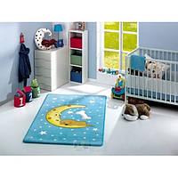 Коврик в детскую комнату Confetti Moon 100*160 голубой
