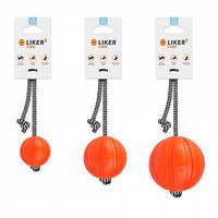 Мячик Liker Line со шнуром; 9 см, фото 1