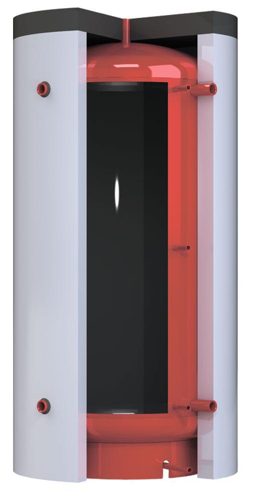 Тепловой аккумулятор Kronas ТА0.1500 на 1445 литров с изоляцией кожзам + синтепон без теплообменника