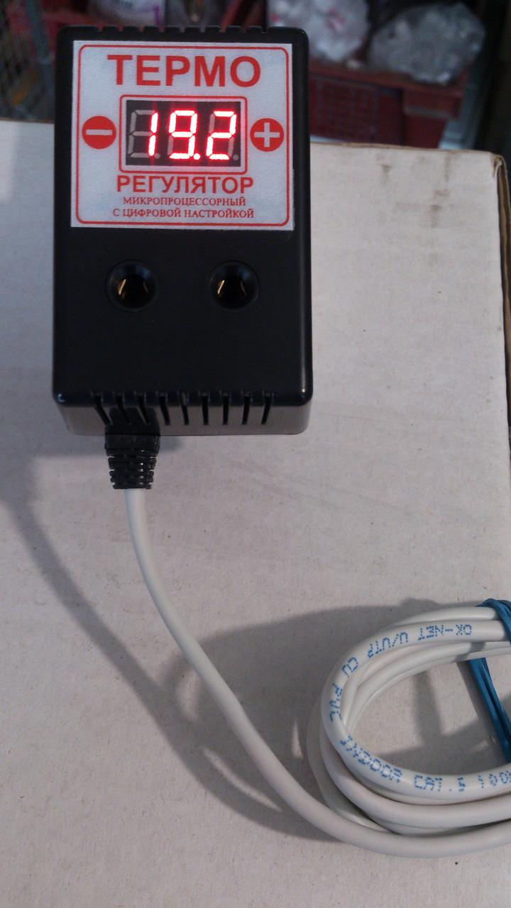 Терморегулятор цифровой ЦТР-2 розеточный 10А (-55...+125)