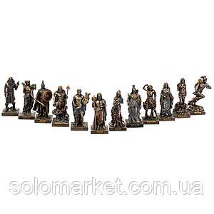 Набір статуеток Veronese Боги Греції 12 шт 9 см 77437YP