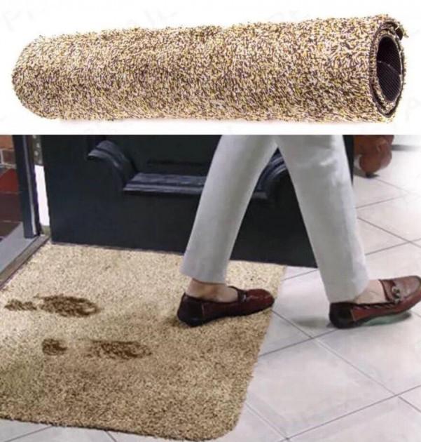 Придверні супервбираючий килимок Clean Step Mat для передпокою / під двері / для ніг