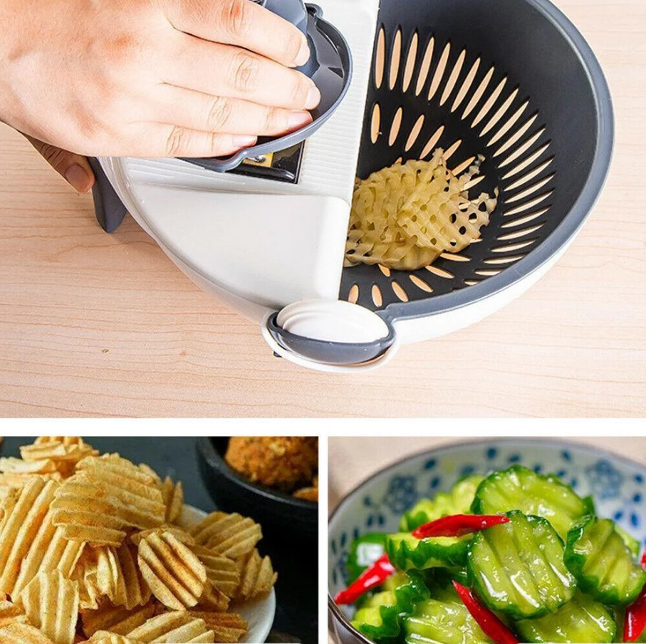 Миска друшлаг Овощерезка Wet Basket Vegetable Cutter