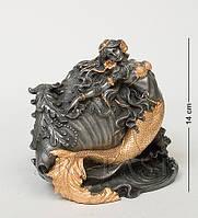 Статуетка-скринька Veronese Русалка з черепашкою 14 см 1901899