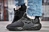 Кроссовки женские 15444, Nike React, черные, < 38 39 40 41 > р. 38-23,5см., фото 1