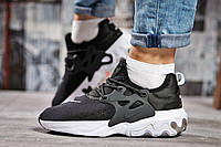 Кроссовки женские 15445, Nike React, черные, < 37 38 39 > р. 37-23,0см., фото 1
