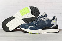 Кроссовки мужские 17294, Adidas 3M, темно-синие, < 41 42 43 44 45 46 > р. 41-25,2см., фото 1