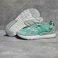 Кроссовки женские повседневные Adidas 3M зеленые летние кроссовки адидас, фото 1