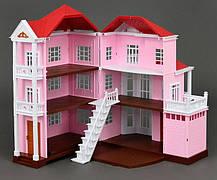 Великий Будиночок для флоксовых тварин Happy Family 1513 триповерховий зі світлом (аналог Sylvanian Families), фото 2