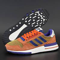 Мужские кроссовки Adidas ZX 500 RM рыжие 41-45р. Живое фото (Реплика ААА+)