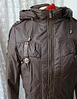 Куртка женская теплая демисезонная капюшон р.46 3915, фото 1
