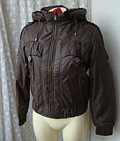 Куртка женская теплая демисезонная капюшон р.52 3918, фото 1