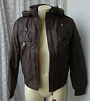 Куртка женская теплая демисезонная капюшон р.48 3916, фото 1