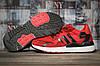 Кроссовки женские Adidas красные  летние сетка Адидас Nite Jogger Boost 3M