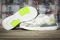 Кроссовки женские  летние сетка Adidas Nite Jogger Boost 3M белые, фото 1
