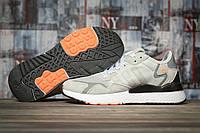 Кроссовки женские  летние сетка Adidas Nite Jogger Boost 3M серые, фото 1