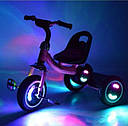 Велосипед трехколесный Turbo Trike с корзинкой, Свет колёс, ровер, фото 2