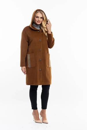 Женское пальто бронзового цвета, фото 2