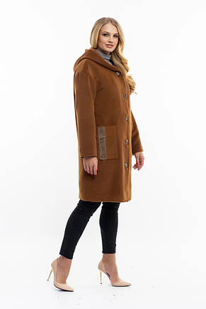 Женское пальто бронзового цвета, фото 3