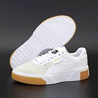 Женские демисезонные кроссовки Puma Cali White Gum 36-40рр. Живое фото. Реплика ААА+, фото 1