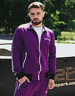 Мужской спортивный костюм трикотажный Palm Angels фиолет весна осень. Живое фото. Чоловічий спортивний костюм