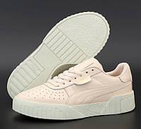 Женские демисезонные кроссовки Puma Cali Pink White 36-40рр. Живое фото. Реплика ААА+, фото 1