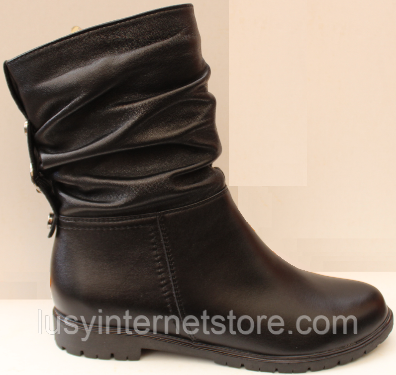 Сапожки женские кожаные от производителя модель ДС8343