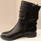 Сапожки женские кожаные от производителя модель ДС8343, фото 2