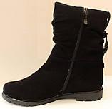 Сапожки женские кожаные от производителя модель ДС8343, фото 5