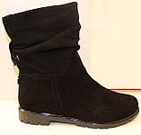 Сапожки женские кожаные от производителя модель ДС8343, фото 4