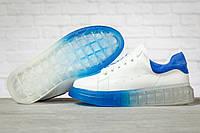 Женские кроссовки Alexander McQueen белые кеды в стиле Маквин весна осень, фото 1