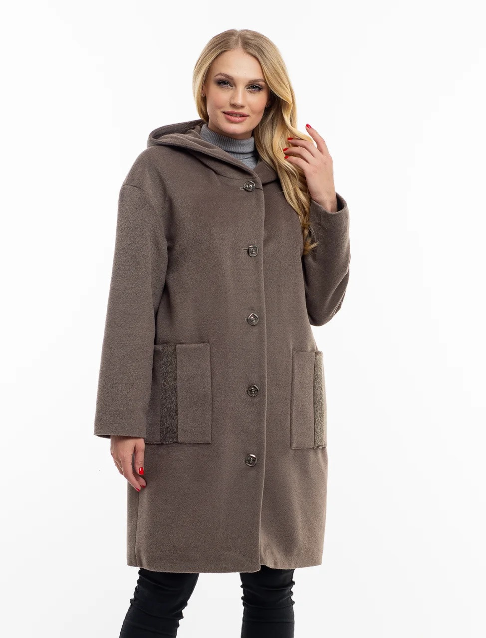 Сіре пальто жіноче-новинка