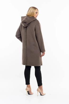 Сіре пальто жіноче-новинка, фото 2