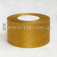 Лента парчовая  5 см, золотистая