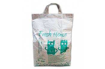Наполнитель для котов Fresh House ЗЕЛЕНЫЙ  мелкий 5 кг