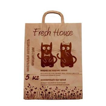 Наполнитель для котов  Fresh House коричневый крупный 5 кг