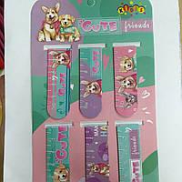 Набор закладки с магнитом для учебников Cобачка ( цена за 6шт) 13390