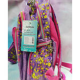 Рюкзак дівчачий 3 відділення, 2 кишені, пенал, м'яка спинка з подушечками, фото 2