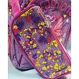 Рюкзак дівчачий 3 відділення, 2 кишені, пенал, м'яка спинка з подушечками, фото 3
