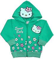 """Кофта для девочки """"Китти"""", цвет: зеленый, рост 86"""