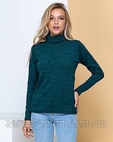Гольф женский оптом Ангора-софт (42-50) цвет темно-зеленый