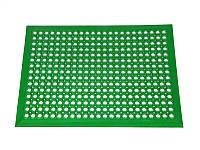 Ковер резиновый ячеистый грязезащитный Примаринг-К 12 мм 92х152 см с зеленый кантом Польша