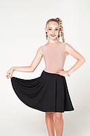 Детская юбка для танцев модерн, контемп, бальные танцы, одежда для тренировок, танцевальная детская одежда.