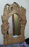 Рама резная для зеркала Драконы (Игры престолов) 120*70 см, фото 2