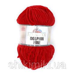 Пряжа велюровая Dolphin Fine, цвет Красный