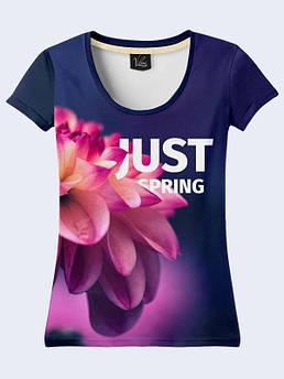 Женская футболка с принтом Весна Цветок