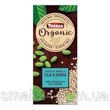 """Шоколад чорний без глютену Organic """"Соя і кіноа"""" Soja & Quinoa Torras 100 г Іспанія"""