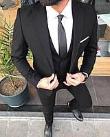Мужской классический костюм тройка (пиджак/жилетка/брюки) Турция